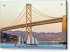Bay Bridge Gold Acrylic Print by Kate Brown