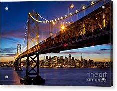 Bay Bridge Acrylic Print by Inge Johnsson