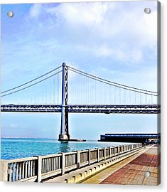 Bay Bridge Acrylic Print by Julie Gebhardt