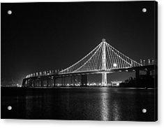 Bay Bridge Moon Acrylic Print