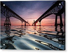Bay Bridge Reflections Acrylic Print