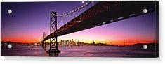 Bay Bridge San Francisco Ca Usa Acrylic Print by Panoramic Images