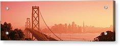 Bay Bridge, Skyline, City, San Acrylic Print by Panoramic Images