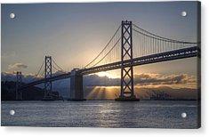 Bay Bridge Sunrise Acrylic Print