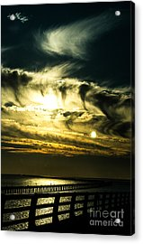 Bay Bridge Sunset Acrylic Print by Angela DeFrias