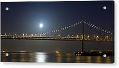 Bay Bridge Supermoon Acrylic Print