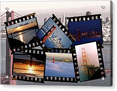 Acrylic Print featuring the photograph Golden Gate Collage by Christopher McKenzie