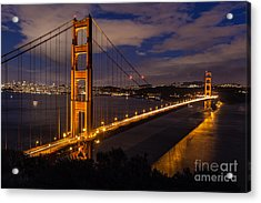 Bay Lights Acrylic Print by Charles Garcia