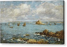 Bay Of Douarnenez Acrylic Print by Eugene Louis Boudin