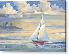 Bay Of Palms Acrylic Print by Paul Brent