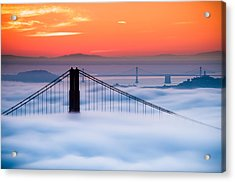 Bay Sunrise Acrylic Print by Brian Bonham