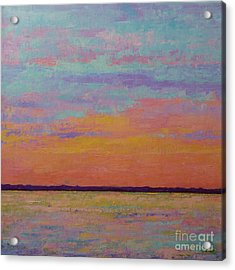 Bay Sunset Acrylic Print by Gail Kent