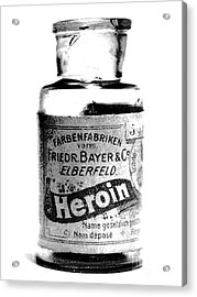 Bayer Company Sells Heroin Around 1900 Acrylic Print