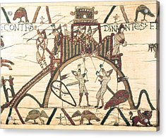 Bayeux Tapestry. 1066-1077. Detail Acrylic Print by Everett