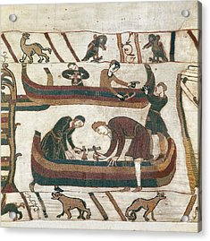 Bayeux Tapestry. 1066-1077. Making Acrylic Print by Everett