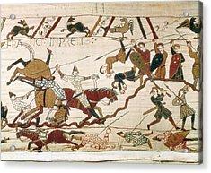 Bayeux Tapestry. 1066-1077. Scene Acrylic Print by Everett