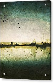 Baylands At Sunset Acrylic Print