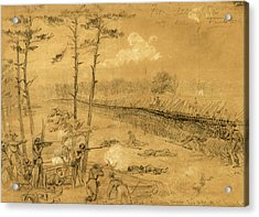 Bayonet Charge Of The 2nd Reg. Col. Hall Acrylic Print by Quint Lox
