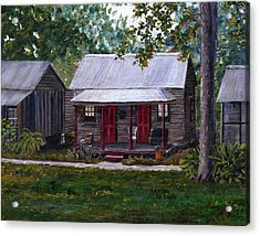 Bayou Cabins Art Breaux Bridge Louisiana Acrylic Print