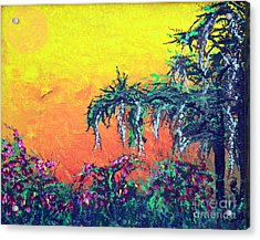 Acrylic Print featuring the painting Bayou Honeymoon by Alys Caviness-Gober