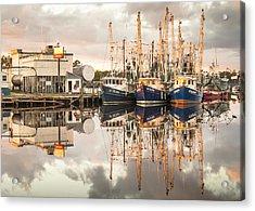 Bayou La Batre' Al Shrimp Boat Reflections 40 Acrylic Print
