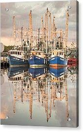 Bayou La Batre' Al Shrimp Boat Reflections 41 Acrylic Print