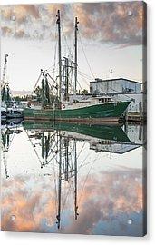 Bayou La Batre' Al Shrimp Boat Reflections 42 Acrylic Print
