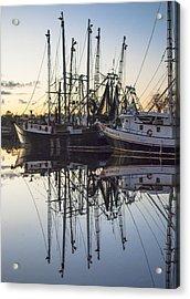 Bayou La Batre' Al Shrimp Boat Reflections 43 Acrylic Print