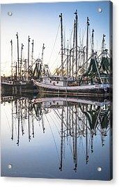 Bayou La Batre' Al Shrimp Boat Reflections 44 Acrylic Print
