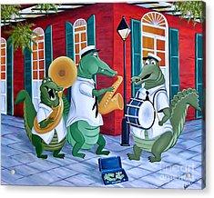 Bayou Street Band Acrylic Print