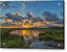 Bayou Sunrise Acrylic Print by Brian Wright