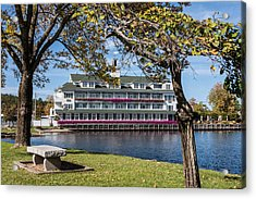 Baypoint Inn At Mill Falls Meredith Nh Acrylic Print by Karen Stephenson