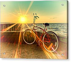 Acrylic Print featuring the photograph Bayside Sunset by Mark Miller