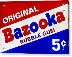 Bazooka Bubble Gum  Acrylic Print