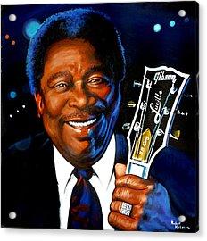 Bb King Painting Acrylic Print by Robert Korhonen