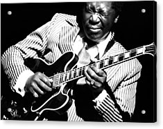 B.b. King - Squeezing Lucille Acrylic Print