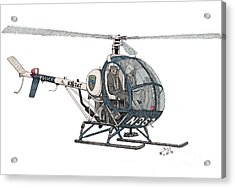 Bcpd Helicopter Acrylic Print by Calvert Koerber