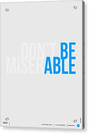 Be Able Poster Acrylic Print