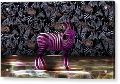 Be Courageous - Be Different - Zebra Acrylic Print