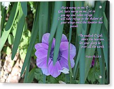 Be Exalted Oh God Acrylic Print by Carolyn Ricks