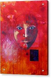 Be Golden Acrylic Print by Nancy Merkle