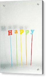 Be Happy Acrylic Print by Catherine MacBride