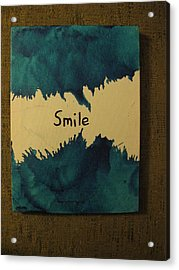 Be Happy In A Stormy Sea Acrylic Print