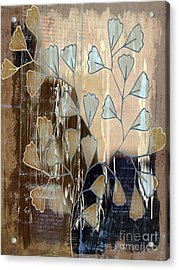Be-leaf - Beige A05t3a Acrylic Print by Variance Collections