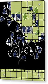 Be-leaf - Green 02ab03 Acrylic Print by Variance Collections