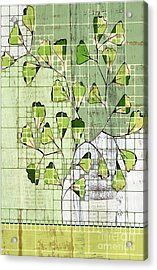 Be-leaf - Green 03-ab202t2 Acrylic Print by Variance Collections