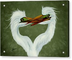 Be My Valentine Acrylic Print by Adele Moscaritolo