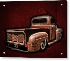 Be My Valentine On The Rat Rod Of Love Acrylic Print