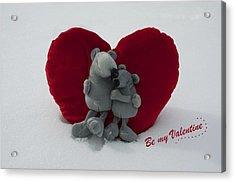 Be My Valentine  Acrylic Print by Nicole Markmann Nelson