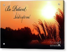 Be Patient Acrylic Print